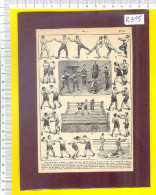 BOXE * Boksen  Boxing Boxeo Boxen * Gravure Engraving Gravierung Incisione Grabado Gravado   R315 - Boxe