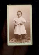 Photographie CDV 1895 Enfant André BAZOU Photographe MARTIN 36 Grande Rue DOLE Jura - Foto