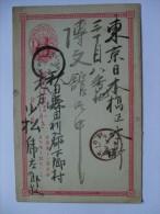 JAPAN 1870`S POSTCARD 1 SEN INTERNAL - Japon