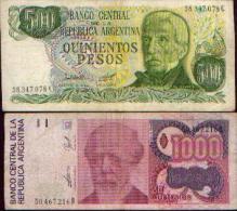 ARGENTINE - Lot De 2 Billets - Argentine