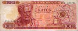 GRECE - 100 Drachmes 01.10.1967 - Grèce