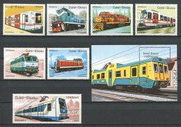 GUINEE BISSAU 1989 N° 521/527 BLOC 63 ** Neufs = MNH Superbes Cote 21 € Trains Transports Ferroviaires Chemin De Fe - Guinea-Bissau