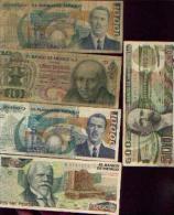 MEXIQUE  - Lot De 5 Billets (1 Répétition) - Mexique