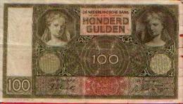 PAYS-BAS - 100 Gulden - 22.05.1942 - [2] 1815-… : Kingdom Of The Netherlands