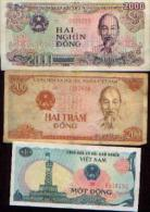 VIET NAM - Lot De 3 Billets - Viêt-Nam