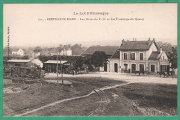 811 - BRETENOUX BIARS - LES GARES DU P. O. ET DES TRAMWAYS DU QUERCY - Bretenoux