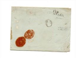 !!! DEPARTEMENT CONQUIS 110 LES APENNINS MARQUE POSTALE DE CHIAVARI SUR DOCUMENT DU PREFET DU DEPARTEMENT DES APENNINS - 1792-1815: Départements Conquis