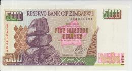 Zimbabwe 500 Dollars 2004 Pick 11 UNC - Zimbabwe