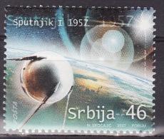 Serbia 2007. Sputnik, Cosmos, MNH(**) Mi 220 - Serbie