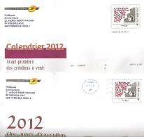 Lettres De Philaposte  2 Exemplaires  (    Un Calendrier 2012 & Un  Bonne Année 2012  ) - PAP : Altri (1995-...)