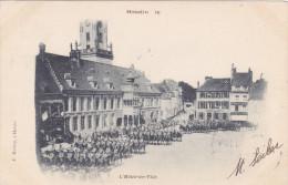 HESDIN HOTEL DE VILLE MILITAIRES ATTELAGE - Hesdin