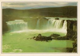 GODAFOSS:  LE  CASCATE  DI  SKIALFANDAFJOT      (NUOVA CON DESCRIZIONE DEL SITO SUL RETRO) - Islanda