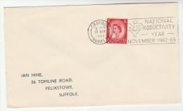 1963 Croydon GB COVER  SLOGAN Pmk  NATIONAL PRODUCTIVITY YEAR Stamps - 1952-.... (Elizabeth II)