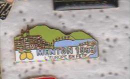 Pin's VILLE DE MENTON - Ciudades