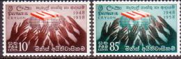 CEYLON 1964 SG #501-02 Compl.set MNH Horiz. Pair Industrial Exhibition - Sri Lanka (Ceylon) (1948-...)