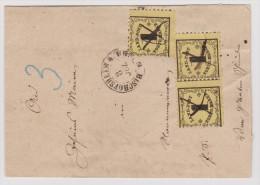 Baden 1867-07-03 Taxierter Brief Nach Dinglingen Mit 3x 1 Kreuzer Landpost - Baden
