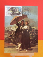 FDC Carte Maxi - Journée Du Timbre Francisco De Goya - 69 Lyon - 7.3.1981 - 1er Jour, Coté 5 € - 1980-89
