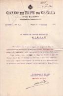 Raffaele De Vita. Comandante Delle Truppe Di Cirenaica, Generale Di Brigata. Comunicazione Firmata. 1920 - Autografi