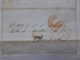 LETTRE CACHET LORCA 1 REAL A BARCELONE 1848 - Spain
