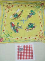 Lot De 2 SERVIETTES Publicitaires QUICK : Foulard Tissu Et Serviette Papier - Serviettes Publicitaires
