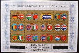 HONDURAS UPU, Drapeaux Yvert  BF 23 ** MNH. 12 Valeurs. - Timbres