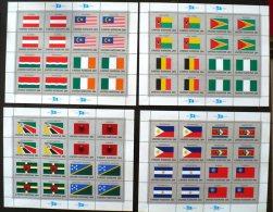 NATIONS UNIES  Drapeaux, MALAYSIA, AUTRICHE, IRLANDE,SEYCHELLES, ALBANIE, DOMINICA, ETC... En Feuillet Complet ** MNH - Timbres