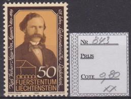 843 XX  MNH  POSTGAAF - Unused Stamps