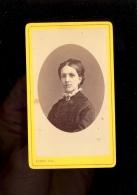 Photographie CDV 1876 Eugénie PERREAULT  / Photographe SERENI Rue De Strasbourg MACON & La Mare Colombière CHALON SAONE - Old (before 1900)