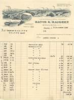 FACTURE LETTRE : PARIS . DAVID ET MAIGRET . 1910 . - Francia