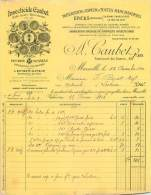 FACTURE LETTRE : MARSEILLE . A. CAUBET . INSECTICIDE . 1900 . - Frankrijk