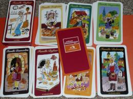 Rare jeu de cartes des 7 familles, Publicitaire, pub Artisan Boulanger Moulins Bourgeois, boulangerie, carte