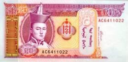 MONGOLIA 20 Tugrik 2002 **UNC** - Mongolia