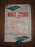 "Affiche "" Coupe Simonis"" Billard / Biljart - Antwerpen - Anvers"