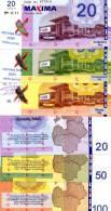 LITHUANIA Set 20-50-100 Litu Shopping Certificates (validity 2003-2004) **AU-UNC** (cancelation Puch Hole As On Image) - Billets