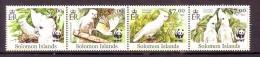 Solomon Islands 2012 Y Fauna Animals WWF Birds  MNH - W.W.F.