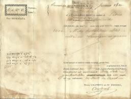 27 Janvier 1810 - RENNEVILLE (31) - CANAL DU MIDI - Connaissement - Blé Du LAURAGAIS En Grenier - Documents Historiques