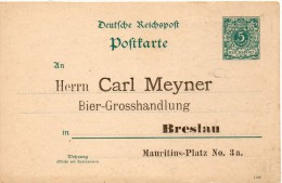 ALLEMAGNE ENTIER POSTAL PRIVE THEME BIERE - Germany