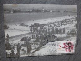 Guerre 39-45, Débarquement De Normandie,  CARTE MAXIMUM 1984  ; Ref 972 PH03 - Cartes-Maximum