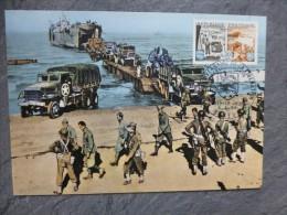 Guerre 39-45, Débarquement De Normandie,  1964 CARTE MAXIMUM  ; Ref 974 PH03 - Cartes-Maximum