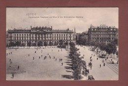 LEIPZIG - Augustusplatz - Hauptpost - Tram - 1906 - Leipzig