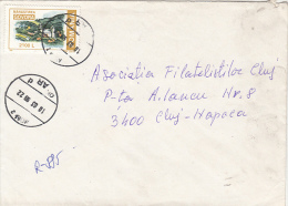 24870- GOVORA MONASTERY, STAMPS ON REGISTERED COVER, 1999, ROMANIA - 1948-.... Républiques