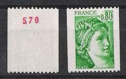 1980a** Avec N°. Luxe - France