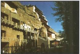 Cina/China: Intero, stationery, entier. Grotte di Mogao, Mogao Grottoes, Grottes de Mogao, 2 scan