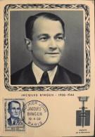 CP. MAXIMUM Année : 1958 - Jacques BINGEN - Paris Le 19.04.1958 - En TBE - - Cartas Máxima