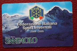 TESSERE FISI FEDERAZIONE ITALIANA SPORT INVERNALI - SAN PAOLO - PIRELLI - FIAT - VACANZA ITALIANE - Sports D'hiver