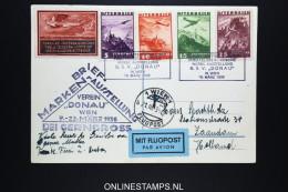 Österreich 1936 FlugpostBriefmarken Ausstellung Bei Gerngross Mixed Stamps, To Zaandam Holland - 1918-1945 1. Republik