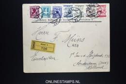 Österreich 1928 R-Brief Graz  Mixed Stamps, Panther Bräu Labels , To Amsterdam  Holland - 1918-1945 1. Republik
