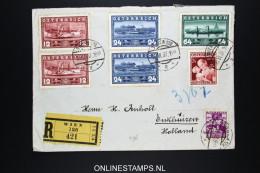 Österreich 1937 R- Brief Mi Wien To Enkhuizen Holland - 1918-1945 1. Republik