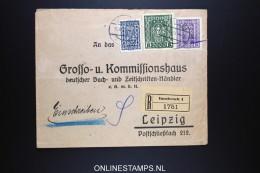Österreich Registered Company Cover  Innsbruck To Leipzig  Zug Stempel - 1918-1945 1. Republik