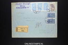 Österreich Registered  Cover  Graz To Flensburg 1926? - Briefe U. Dokumente